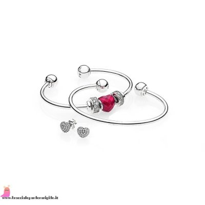 Italia Pandora Saldi Be Mine Stacked Open Bangle Regalo