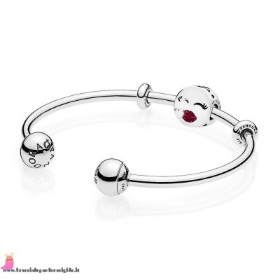 Italia Pandora Saldi Cute Bacio Open Bangle Regalo